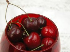 Red Cherries Stock Photo