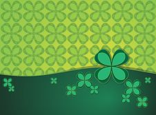 Free Green Background With Clover Leaf Royalty Free Stock Photo - 31515955