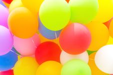 Free Multicolored Balloon Background Royalty Free Stock Photos - 31518388