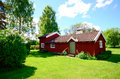 Free Old Idylic Farm House In Sweden Royalty Free Stock Image - 31523206