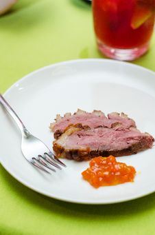 Free Medium Rare Duck Breast Stock Photos - 31528673