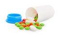 Free Pills In Plastic Jar Stock Photo - 31535430