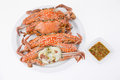 Free Steamed Crabs With Seafood Sauce Royalty Free Stock Images - 31536899