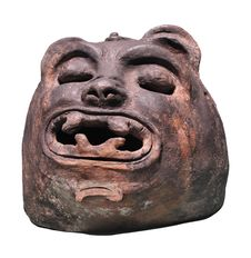 Mayan Ancient Jaguar Figure Isolated. Stock Photo