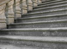 Close-up Of Old Stonework Steps Stock Images