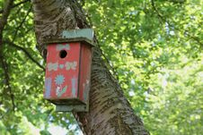 Free Decorated Red Birdhouse Stock Photo - 31533000