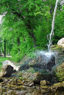 Free Waterfall In The Park Stock Photography - 31538112