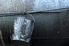 Free Crumpled, Dirty Metal Bucket, Which Poured Oil Stock Image - 31538151