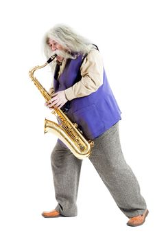 Old Hippies Saxophonist Stock Image