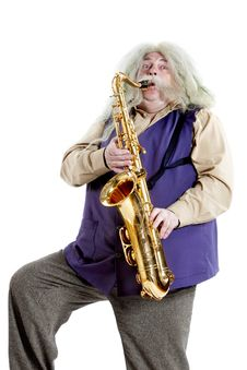 Free Old Hippies Saxophonist Stock Photo - 31543230