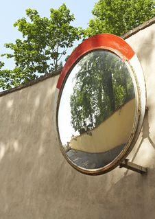 Road Mirror Stock Photography