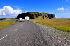 Free Road With Trailers In Iceland Royalty Free Stock Image - 31548486