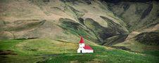 Free Icelandic Church In Field Stock Photos - 31548703
