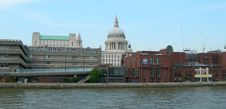 Buildings Along Thames In London Stock Photography