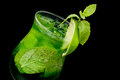 Free Cocktail With Lime And Mint Closeup Stock Image - 31555941