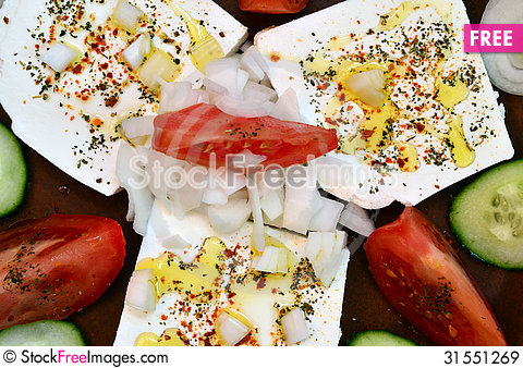 Free Feta Cheese Salad 13 Royalty Free Stock Images - 31551269