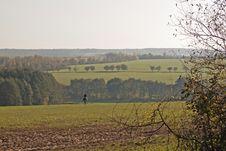 Lone Rider Stock Photo