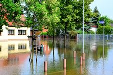 Free Flooded Street In Magdeburg Royalty Free Stock Image - 31551846