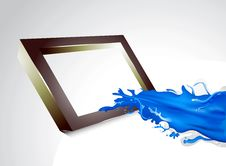 Free Blue Splash With Frame Stock Photography - 31558132