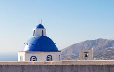 Free Dome And Church Bell At Santorini, Greece Stock Images - 31565244