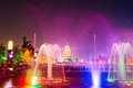 Free The Purple Red Fountain_the Wild Goose Pagoda_nort Royalty Free Stock Photos - 31578388