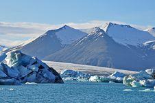 Free Blue Icelandic Gracier Stock Photography - 31576062