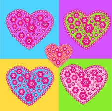 Free Colorful Hearts Royalty Free Stock Photography - 31578057