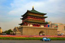 Xian Bell Tower_xian_shanxi Stock Photo