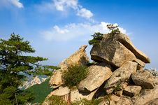 The Life On The Boulders_Hua Mountain_xian Royalty Free Stock Photography