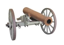 Free Bronze Barrel Field Cannon Isolated Stock Photo - 31579190