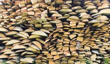 Free Stacked Firewood In A Pile Stock Photo - 31580280