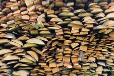 Free Stacked Firewood In A Pile Stock Photography - 31580282