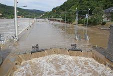 Overflooded Watergate Stock Photography