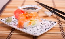 Free Sushi With Salmon And Red Caviar Stock Images - 31590124