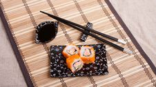 Rolls With Salmon Stock Photography