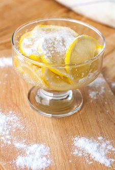 Free Lemon Dessert In A Bowl Stock Photography - 31590422