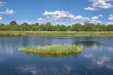 Free Floating An Islet On A River Channel Stock Photos - 31591603