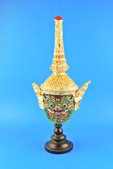 Free Native Thai Style Giant Mask Royalty Free Stock Photo - 31591845