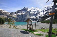 Free Mountains And Lake Oeschinensee Stock Image - 31592051