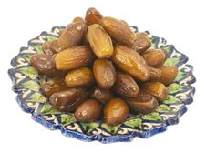 Free Dried Figs In The Central Asian Ceramic Saucer Royalty Free Stock Images - 31594489
