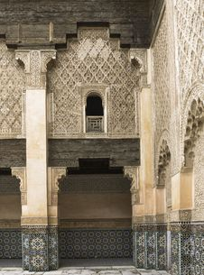 Free Ali Ben Youssef Madrassa Royalty Free Stock Photography - 31596017