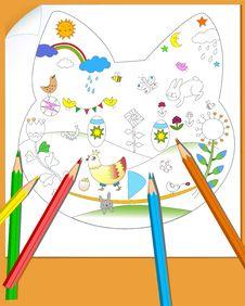 Child Drawing Stock Photos