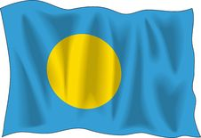 Free Flag Of Palau Stock Photography - 3160052