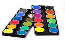 Box Of Watercolors Royalty Free Stock Photo