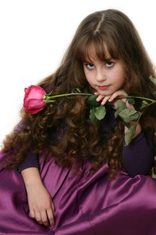 Girl-teenager With Long Hairs. Royalty Free Stock Image