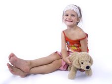 Free Girl With Teddy Stock Photo - 3164160