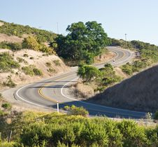 Cycling Mountain Road Stock Photography