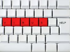 Free Keyboard - Red Key Virus, Clos Stock Photos - 3166083