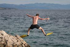 Young Diver Stock Photos