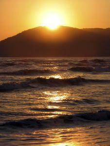 Free Sunset On The Sea Stock Image - 3167111
